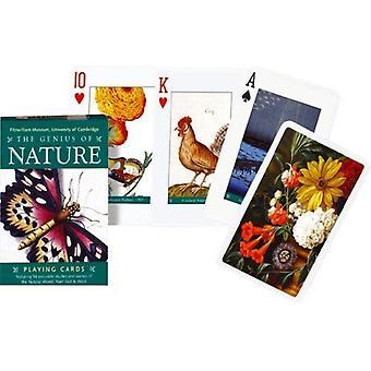 Het genie van Nature Set van 52 + Jokers speelkaarten