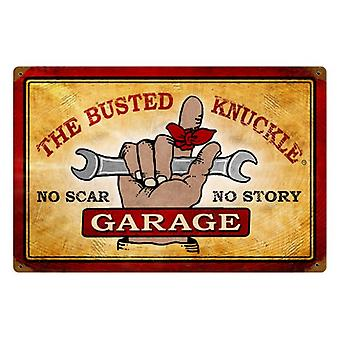 Busted Knuckle Garage No Scar Rusted Steel Sign 460Mm X 300Mm 460Mm X 300Mm