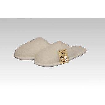 Slipper wool ecru 38/39