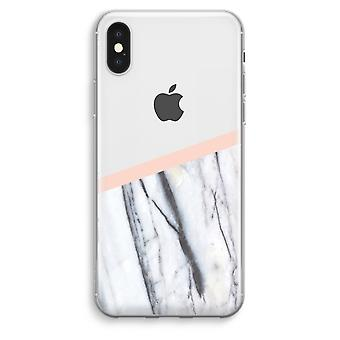iPhone XS Max Transparent Case (Soft) - A touch of peach