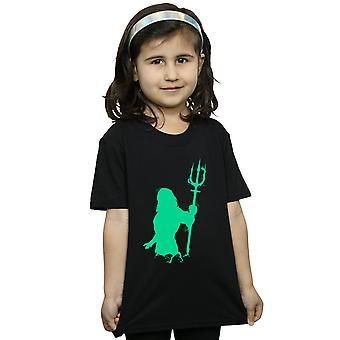 DC Comics filles Aquaman Aqua Silhouette T-Shirt