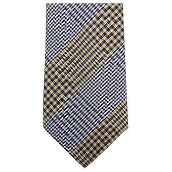 Knightsbridge Neckwear Vichy tissé Tie - jaune/bleu