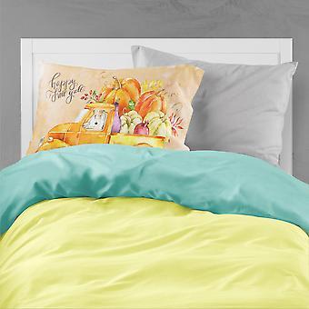 Fall Harvest Fox Terrier Fabric Standard Pillowcase