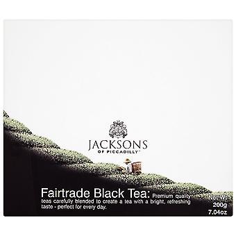 Jacksons von Piccadilly Fairtrade String & Tag schwarzer Teebeutel