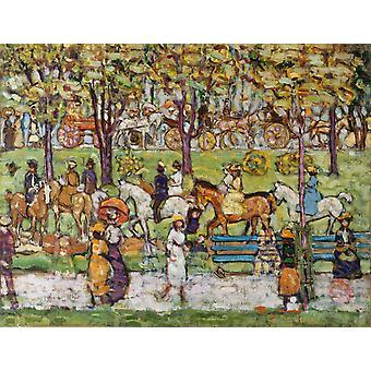 Central Park,Maurice Prendergast,50x40cm