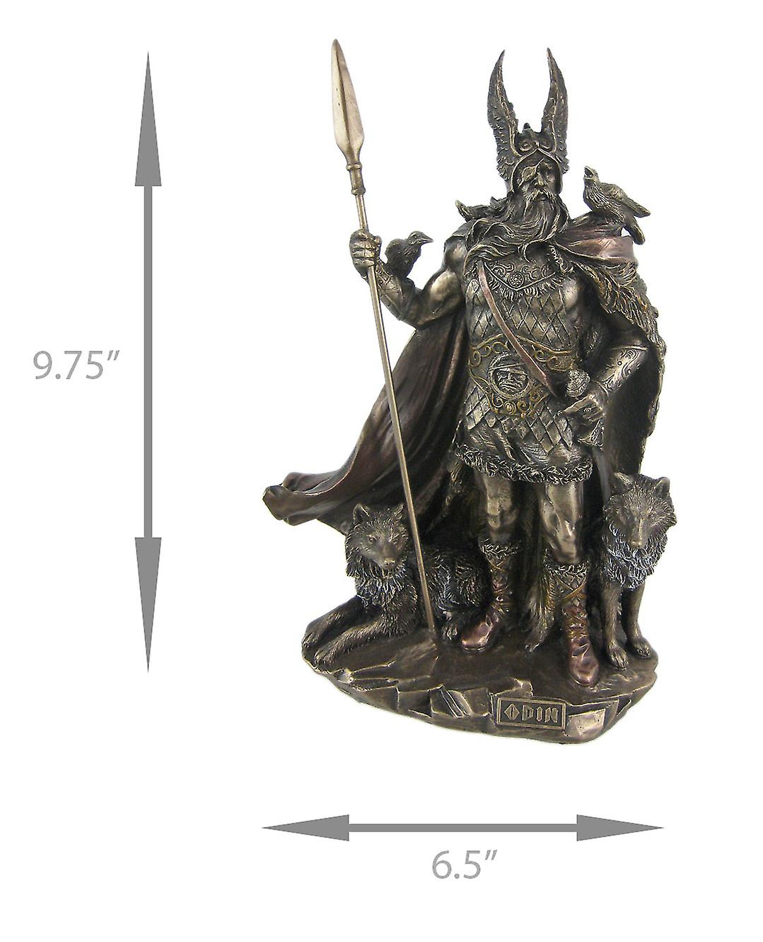 Dio norreno odino finitura bronzo statua viking pagan