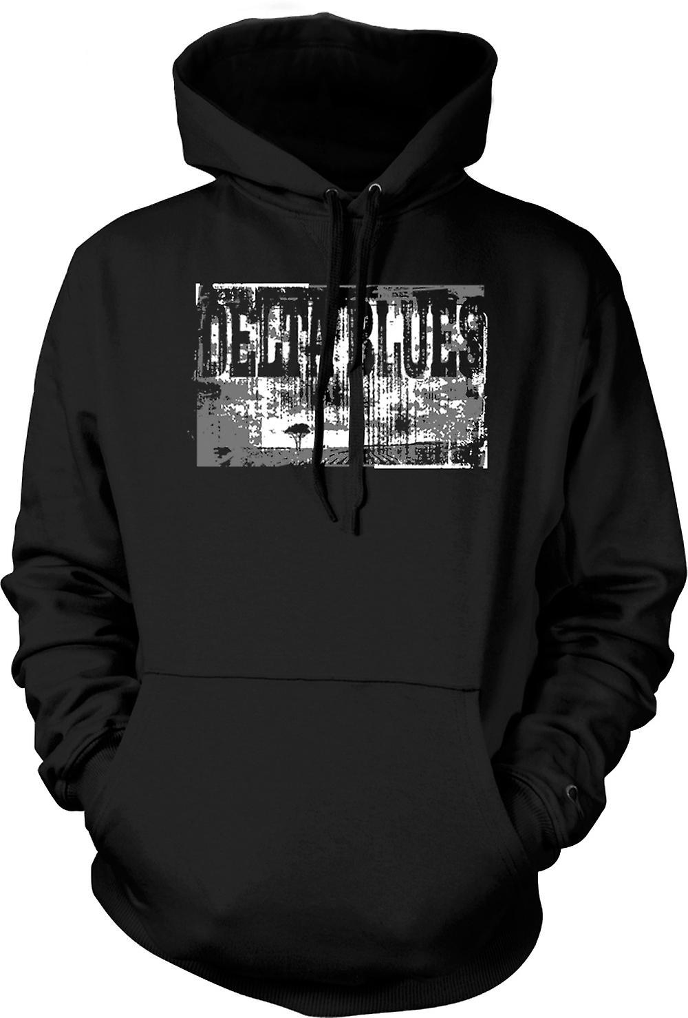 Mens-Hoodie - Delta-Blues-Gitarre - Rock-Musik