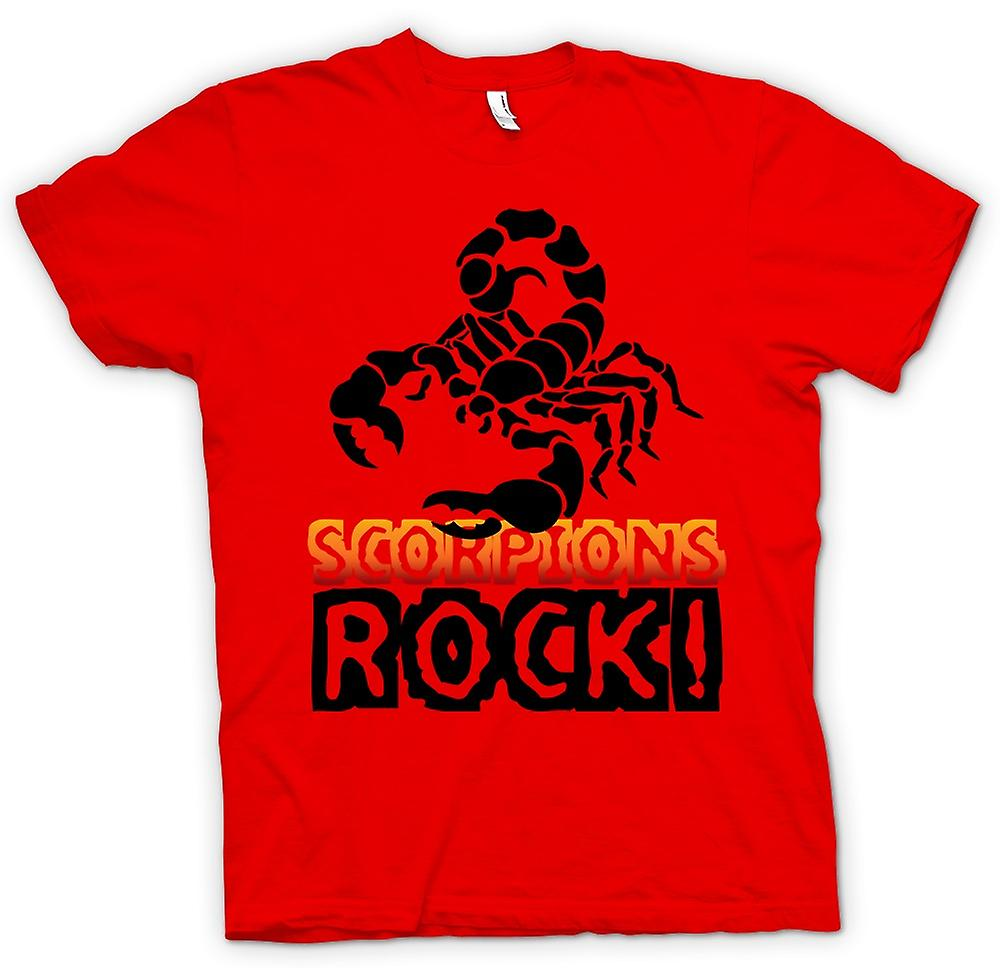 Mens T-shirt-Scorpions Rock