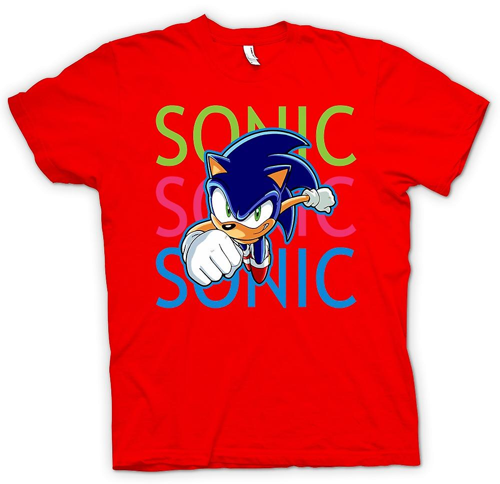 Herr T-shirt-Sonic The Hedgehog - Gamer