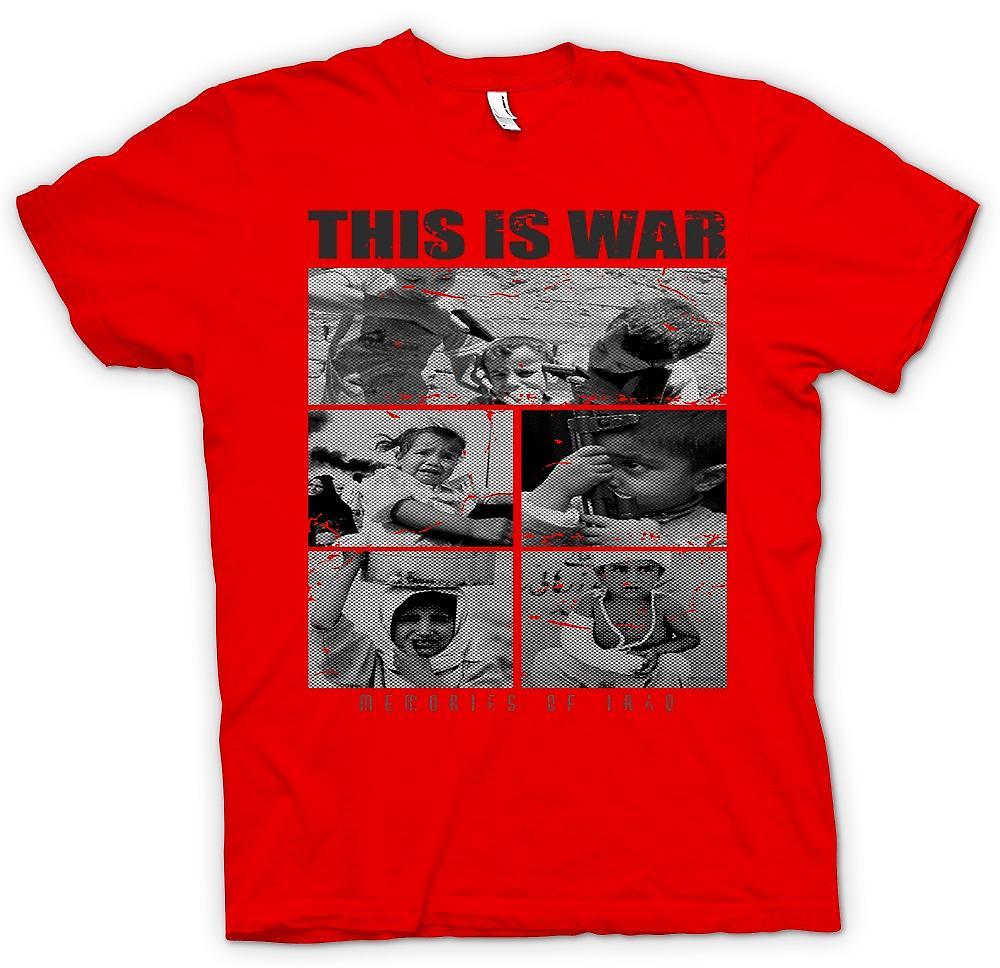 Herr T-shirt - detta är krig - minnen av Irak