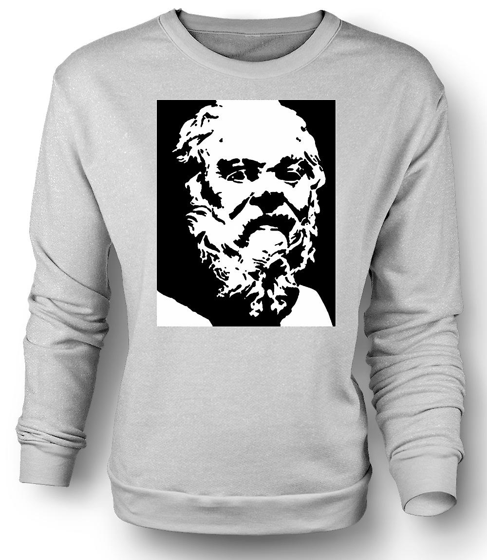 Mens Sweatshirt Socrates - Stencil Icon