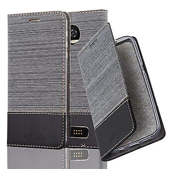 Cadorabo case for Motorola MOTO Z2 PLAY - mobile case with stand function and compartment in the fabric design - case cover sleeve pouch bag book