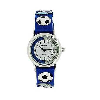 Ravel Time Teacher Kids Boys Football Blue Watch + Telling Time Award R1513.32B