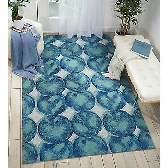 Orgánica moderna OM005 Aqua Marina rectángulo alfombras alfombras modernas
