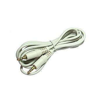 0.25m Short 3.5mm to 3.5mm Jack to Jack ipod White CabledUp