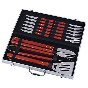couverts inox Barbecue 16 pièces dans valise