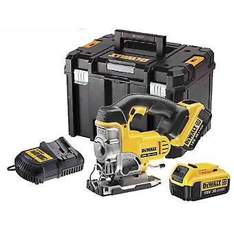 DeWALT DCS331M2 18V XR Jigsaw 2x 4.0 Ah baterias em TSTAK caso