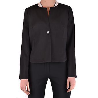 Armani Jeans Black Polyester Blazer