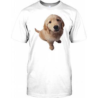 Colden Retriever Welpe Hund - nette Herren-T-Shirt