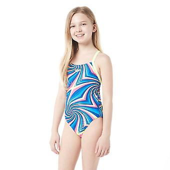 Speedo All Over Digital Thinstrap Crossback Junior Swimsuit
