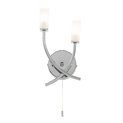 Endon 146-2CH Switched Modern Wall Light With Acid Glass