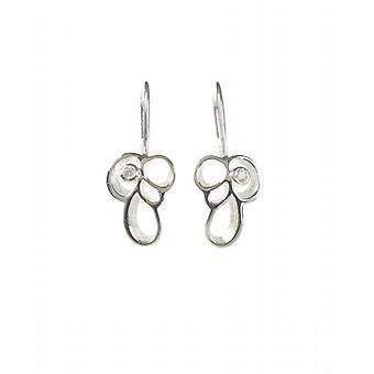 Cavendish French Sterling Silver and CZ Loops and Curls Earrings
