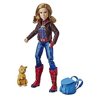 Captain Marvel Super Hero Doll & Marvel Goose the Cat