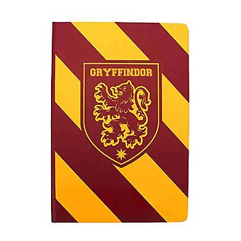 Harry Potter Notebook Gryffindor House Crest Striped Logo new Official Black A5