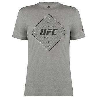 Reebok Mens UFC Official Text T Shirt T-Shirt Tee Top Short Sleeve Crew Neck