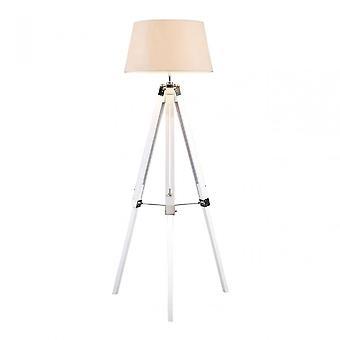 Premier Home White Bailey Tripod vloer lamp, wit
