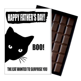 Funny Father's Day Gift From Cat Lover Chocolate Present Card Dad Daddy 152