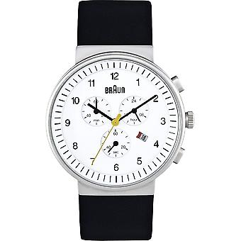 Braun classic chrono Japanese Quartz Analog Man Watch with BN0035WHBKG Synthetic Leather Bracelet