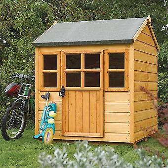 Rowlinson Little Lodge Shiplap Wooden Playhouse - Dip Treated