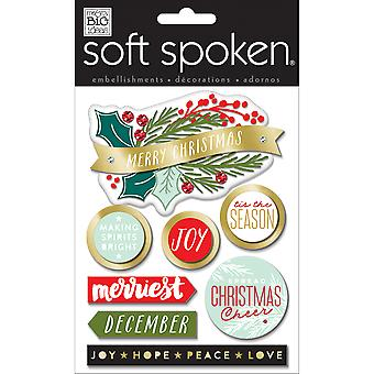 Soft Spoken Themed Embellishments-Merriest SS-1653