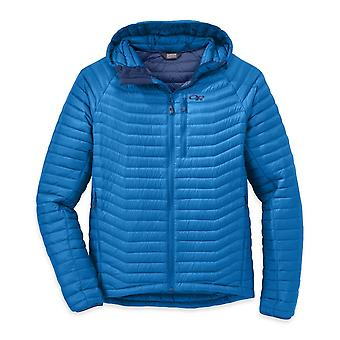 Outdoor Research Mens Verismo Hooded Down Jacket Glacier (Medium)