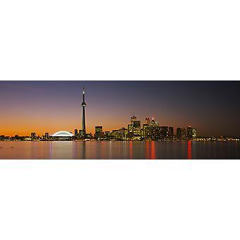 Orizzonte di Toronto al crepuscolo Ontario Canada Poster Print