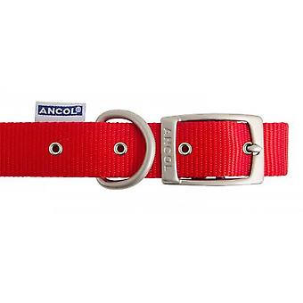 Erbe-Nylon Kragen rot 12mm X22-26 cm