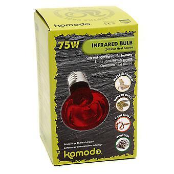 Es de la lámpara de calor infrarrojo del Komodo 75w