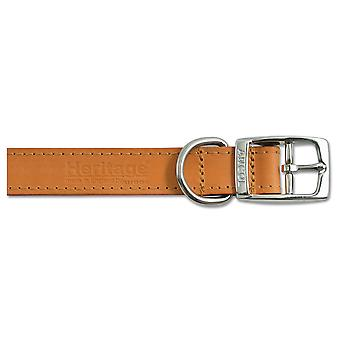 Heritage Leather Collar Tan 16mm X28-36cm Sz 3