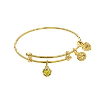 November hart vorm CZ Birthstone uitbreidbaar Tween Bangle bedelarmband