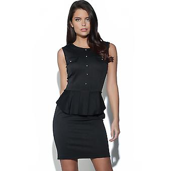 Military Peplum Dress