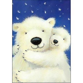 Collection D'Art Diamond Embroidery/Printed/Gem Kit 27X19cm-White Bears DE034