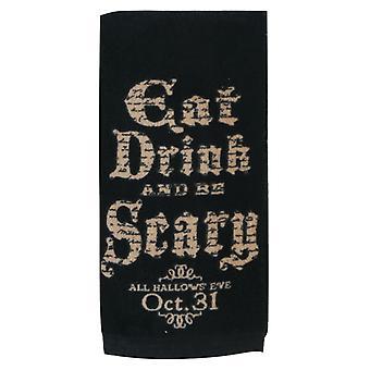 Spise drikke og blive skræmmende, alle Hallows Eve Halloween 26 tommer køkken Terry håndklæde
