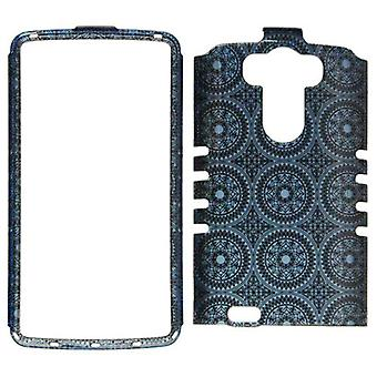 Rocker serie Snap-On Protector Case for LG G3 (Trans Design/blå cirkulære polyes