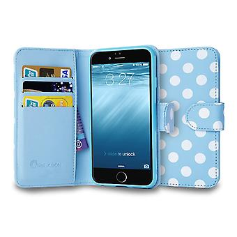 iPhone 6 4.7 Case, i-Blason, Leatherbook Wallet Case-Dalmation/Blue