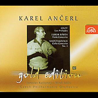Franz Liszt/Barta/Shostakovich - Liszt: Les Pr Ludes; Lubor B Rta: Concierto para Viola; Shostakovich: Cello Concerto No. 1 [CD] USA importar