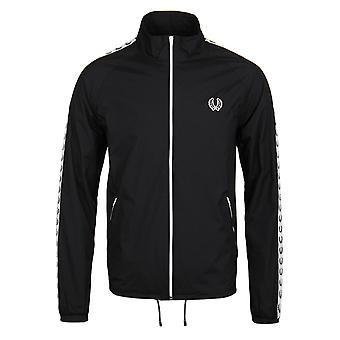 Fred Perry Navy Wreath Taped Zip Through Sports Jacket