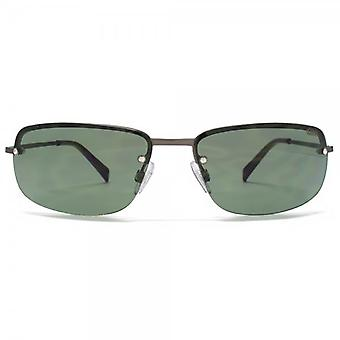 SUUNA NY NY Rimless Sunglasses In Matte Dark Gunmetal