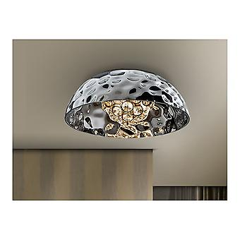 Schuller Mare Chrome Bowl Ceiling Lamp