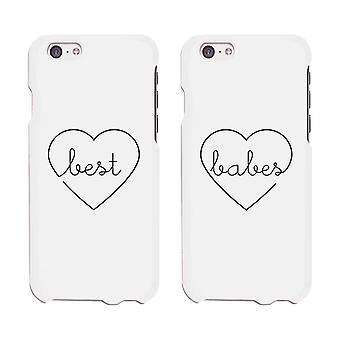 Migliori ragazze bianco telefono Design unico caso migliore amico regalo di corrispondenza